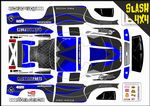 Dark Blue Carbon GT themed vinyl SKIN Kit To Fit Traxxas Slash 4x4 Short Course Truck
